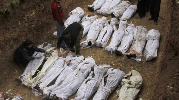 Syrians killed from chemical weapons attacks in 2013. CREATIVE COMMONS