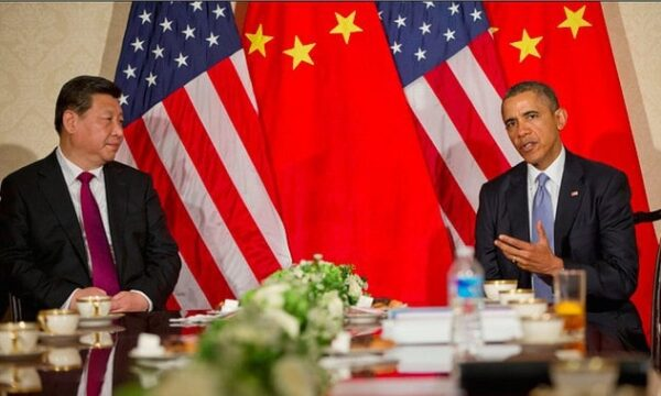 President Barack Obama of the United States and President Xi Jinping of China meeting during a nuclear summit held in The Hague in 2014. CREATIVE COMMONS